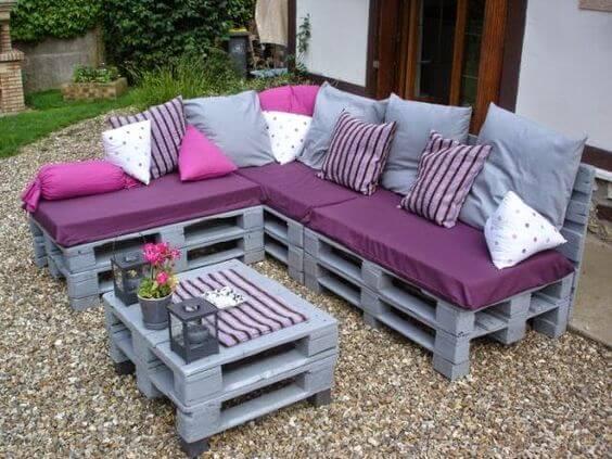 Raklap ötletek-kerti bútor