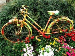 kerti díszek- bicikli