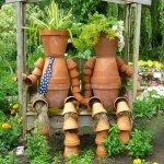 Kerti virágtartó ötletek képekkel