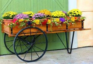 kerti virágtartó ötletek